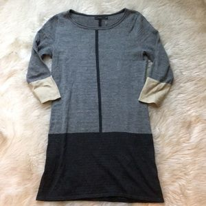 THML Gray Color Block Sweater Dress